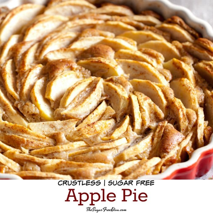 No Added Sugar Crustless Apple Pie