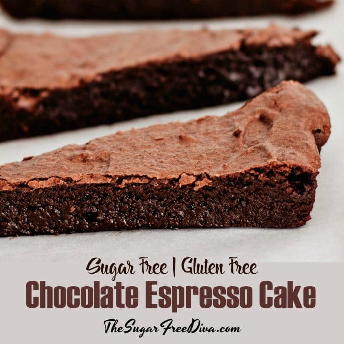 Sugar Free Gluten Free Chocolate Espresso Cake The Sugar Free Diva