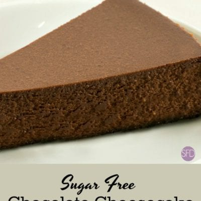 Sugar Free Chocolate Cheesecake
