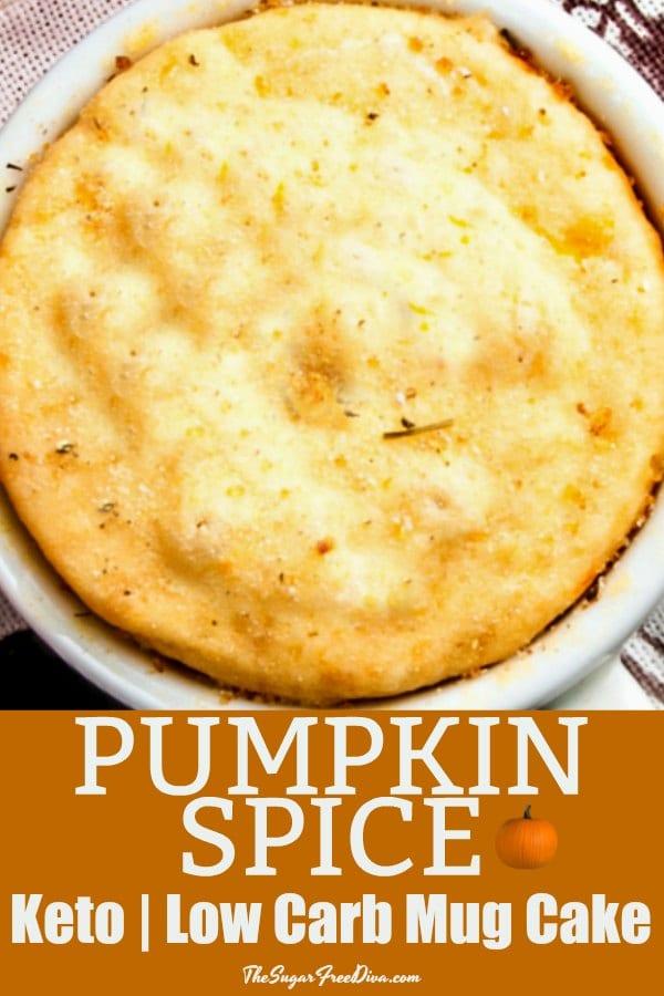 Pumpkin Spice Keto Low Carb Mug Cake