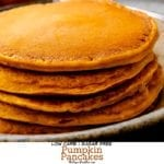 Low Carb Sugar Free Pumpkin Pancakes