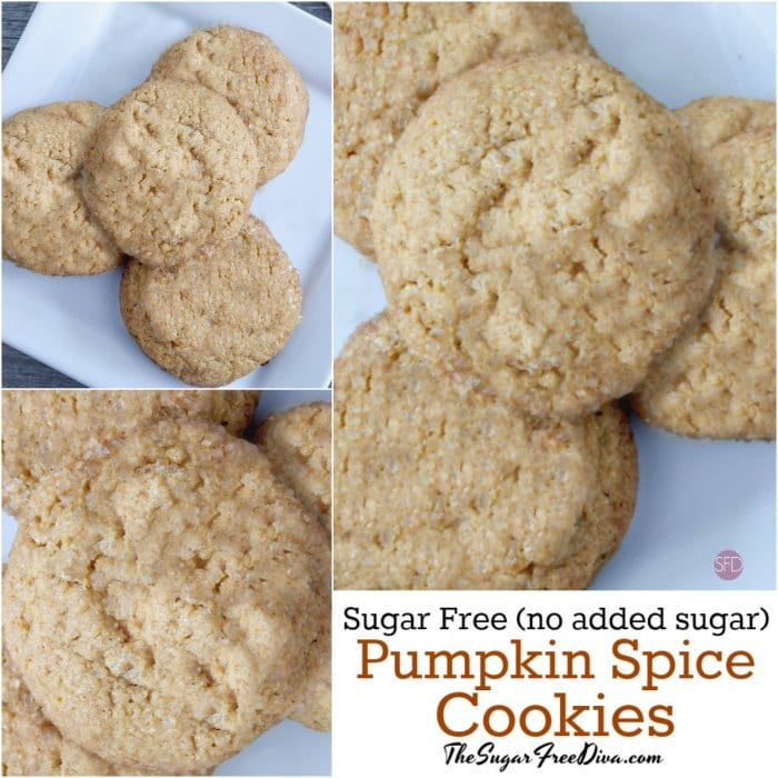 Sugar Free Pumpkin Spice Cookies