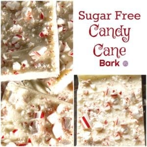 Sugar Free Candy Cane Bark