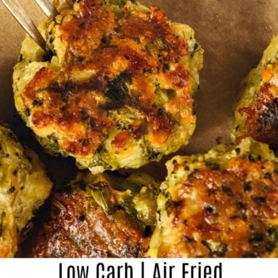 Low Carb Broccoli Cheddar Bites