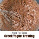 Sugar Free Cocoa Greek Yogurt Frosting