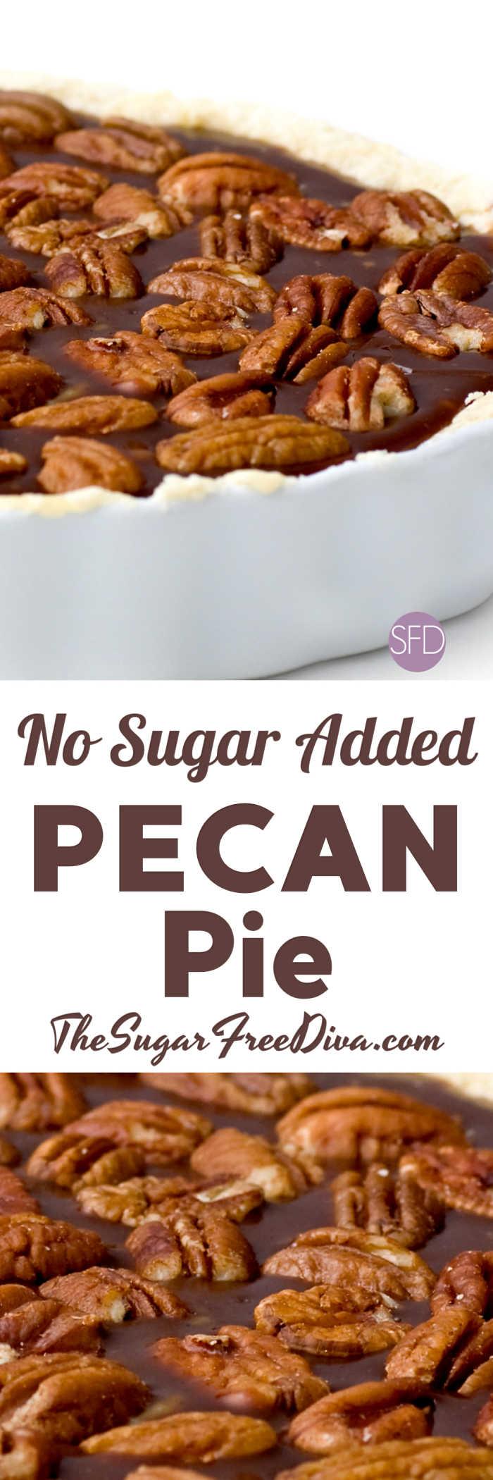 No Sugar Added Pecan Pie