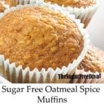 Sugar Free Oatmeal Spice Muffins
