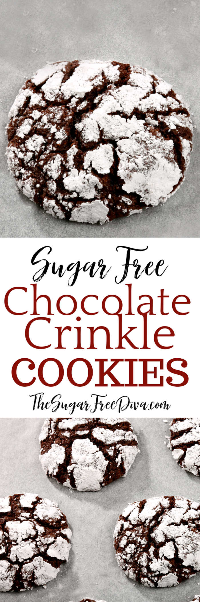 Sugar Free Chocolate Crinkle Cookies