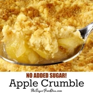 No Added Sugar Apple Crumble