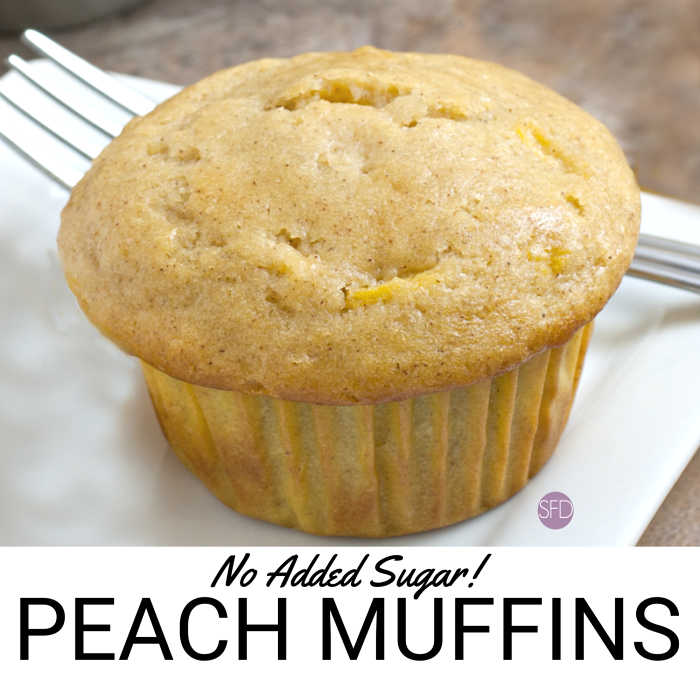 No Added Sugar Peach Muffins