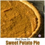 Almost Sugar Free Sweet Potato Pie