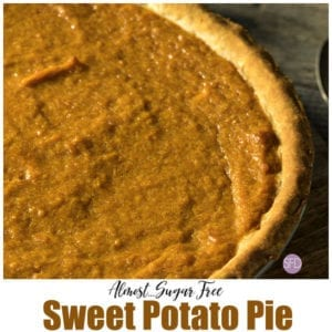 Almost Sugar Free Sweet Potato Pie