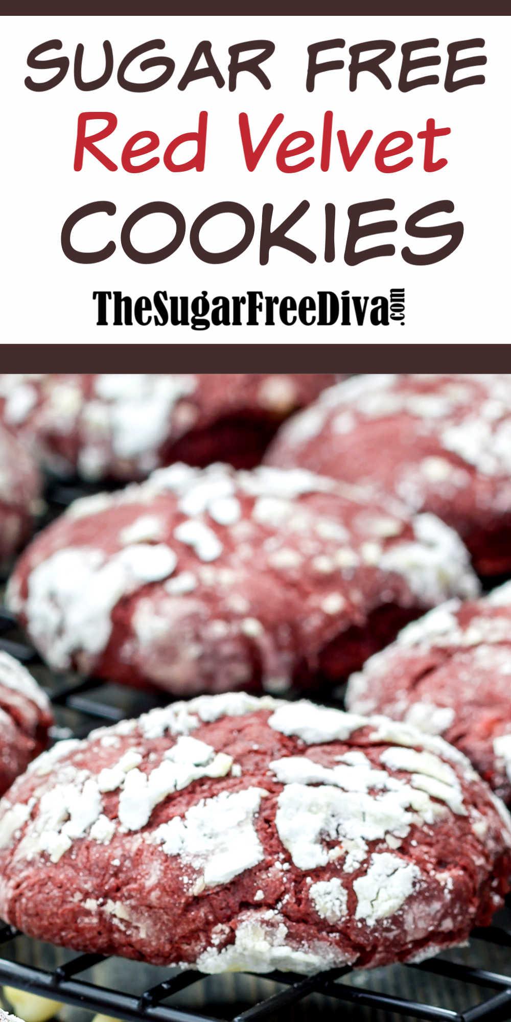 Sugar Free Red Velvet Cookies