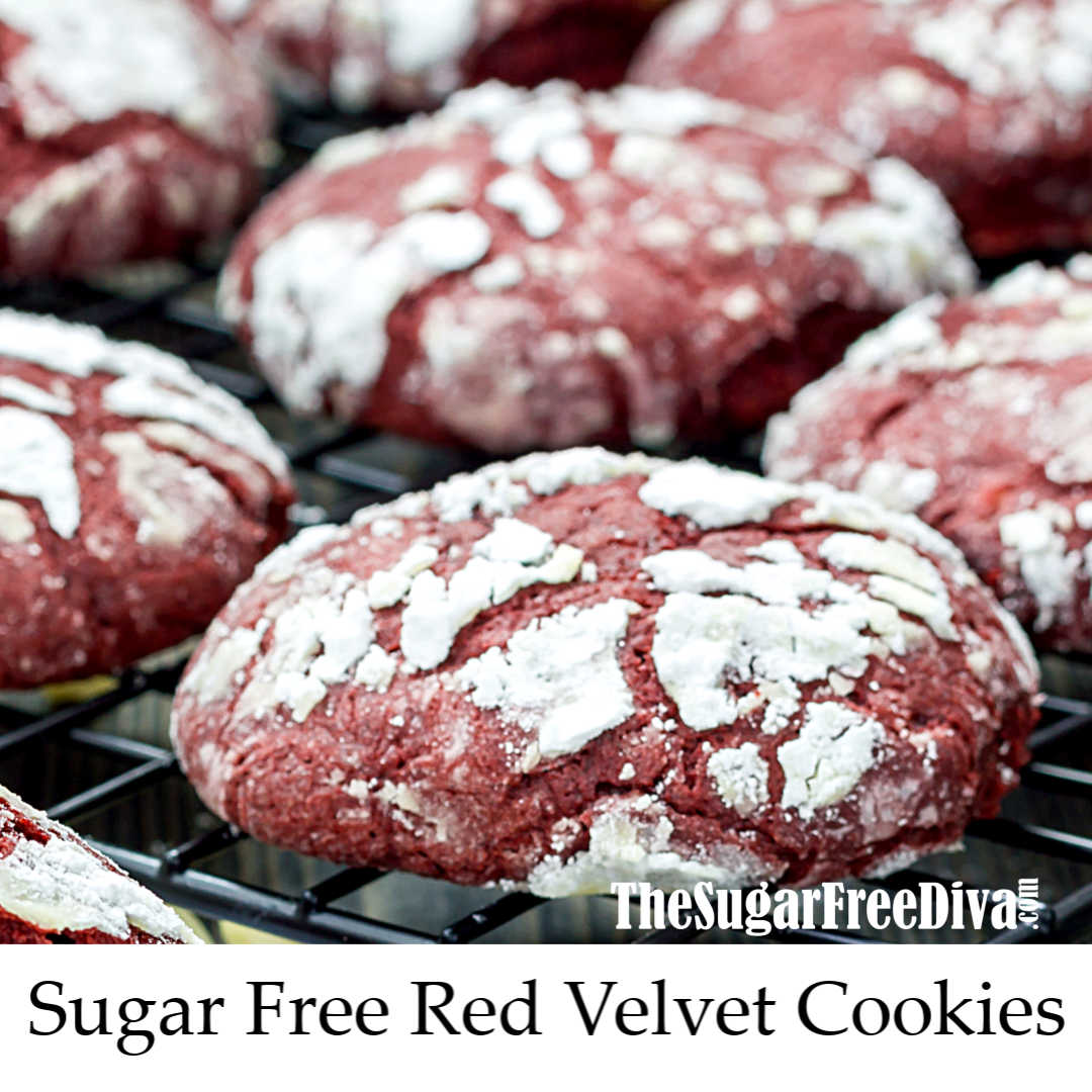 Sugar Free Red Velvet Cookies