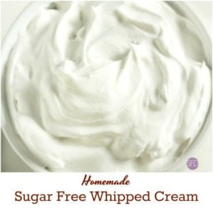 Sugar Free Whipped Cream