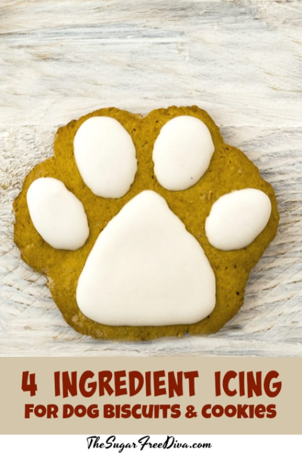 4 Ingredient Icing for Dog Cookies