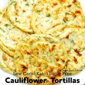 Homemade Cauliflower Tortilla Wraps