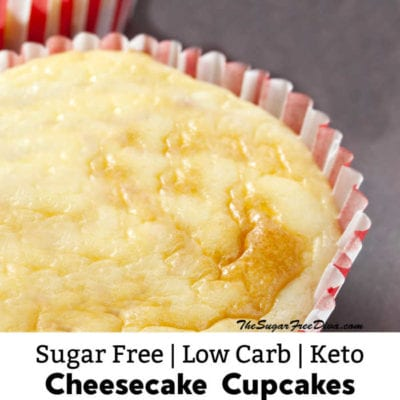 Sugar Free Low Carb Cheesecake Muffins