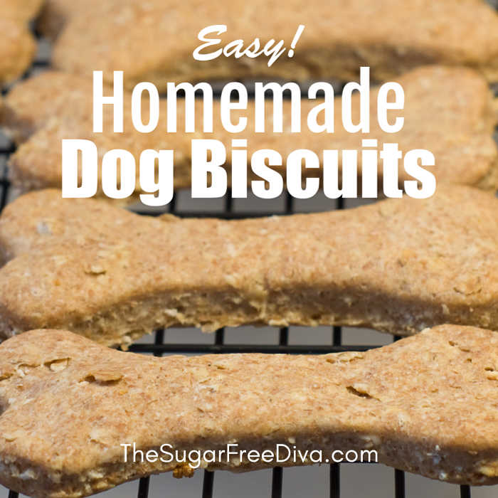 Easy Homemade Dog Biscuits The Sugar Free Diva