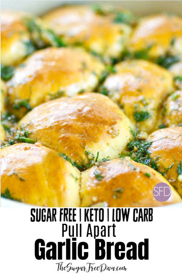 Keto Low Carb Garlic Pull Apart Bread
