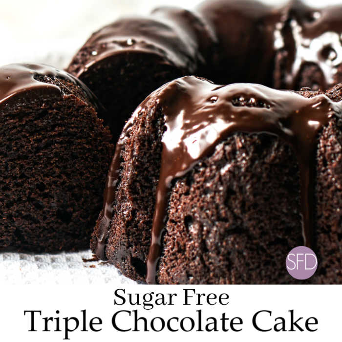 Sugar Free Triple Chocolate Cake
