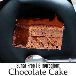 6 Ingredient Sugar Free Chocolate Cake