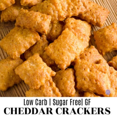 Low Carb Cheddar Crackers