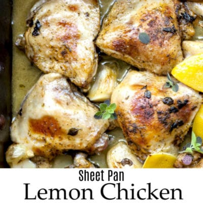 Low Carb Sheet Pan Lemon Chicken