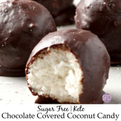 Sugar Free Keto Chocolate Covered Coconut Candy