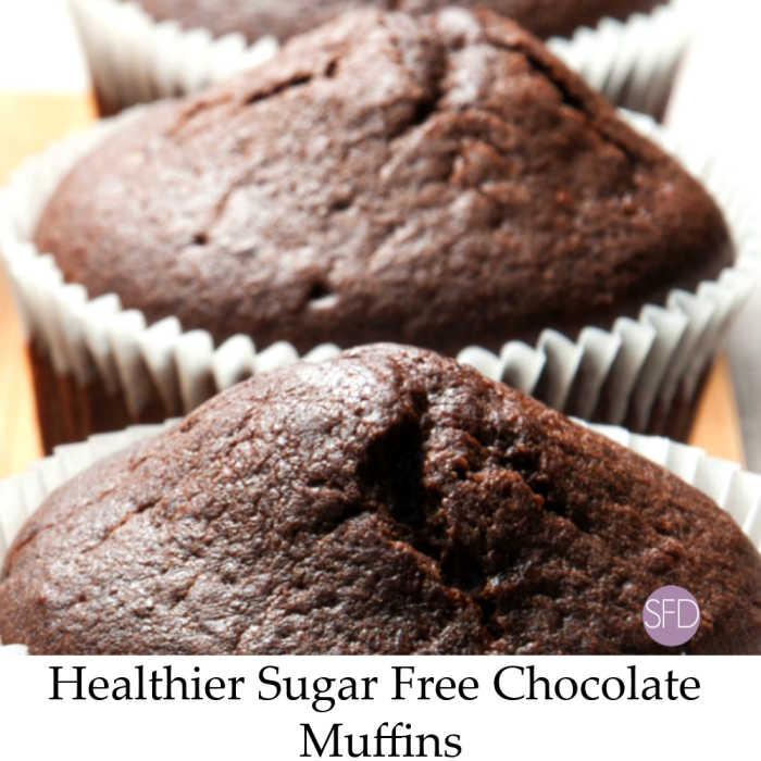 Healthier Sugar Free Chocolate Muffins