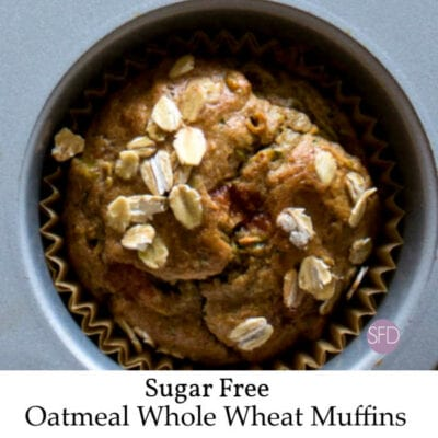 Whole Wheat Sugar Free Oatmeal Muffins