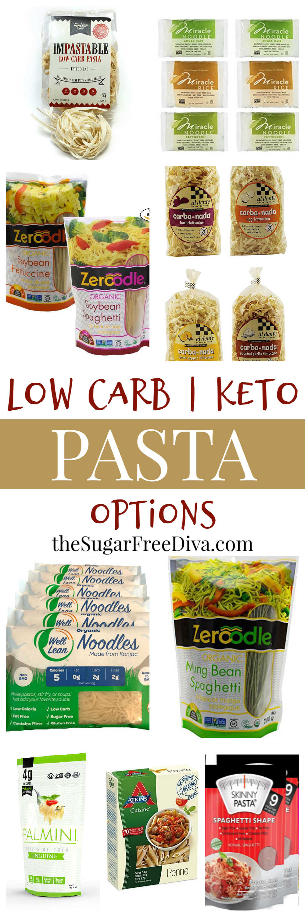 Low Carb Pasta Choices