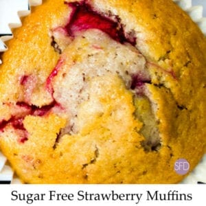 Sugar Free Strawberry Muffins