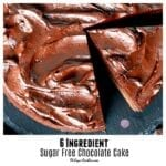 6 Ingredient Sugar Free Chocolate Cake