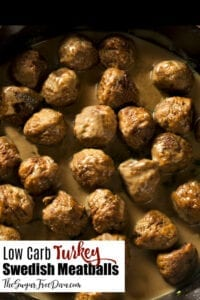 Low Carb Turkey Swedish Meatballs