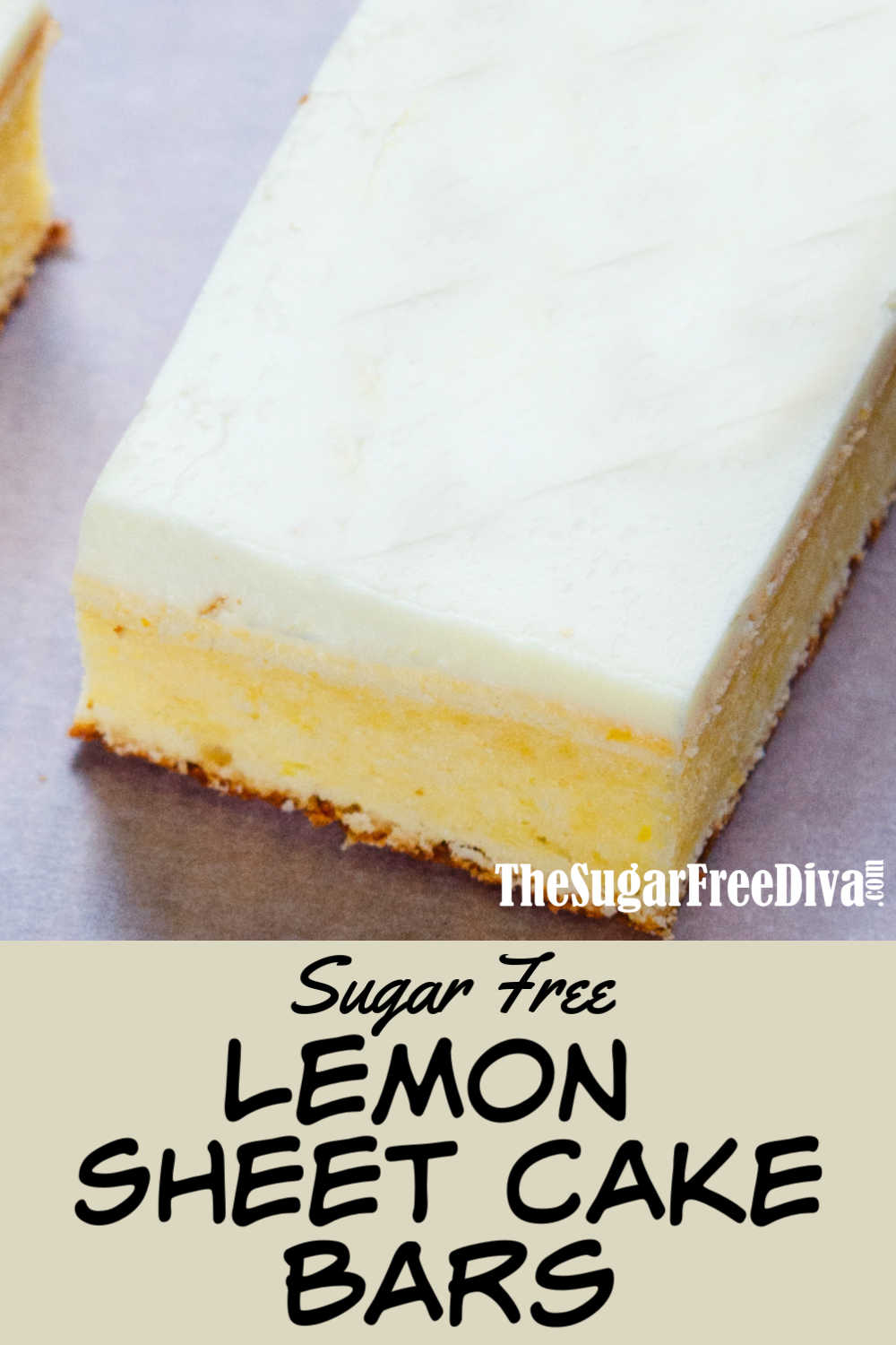 Sugar Free Lemon Sheet Cake Bars