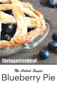 Sugar Free Blueberry Pie