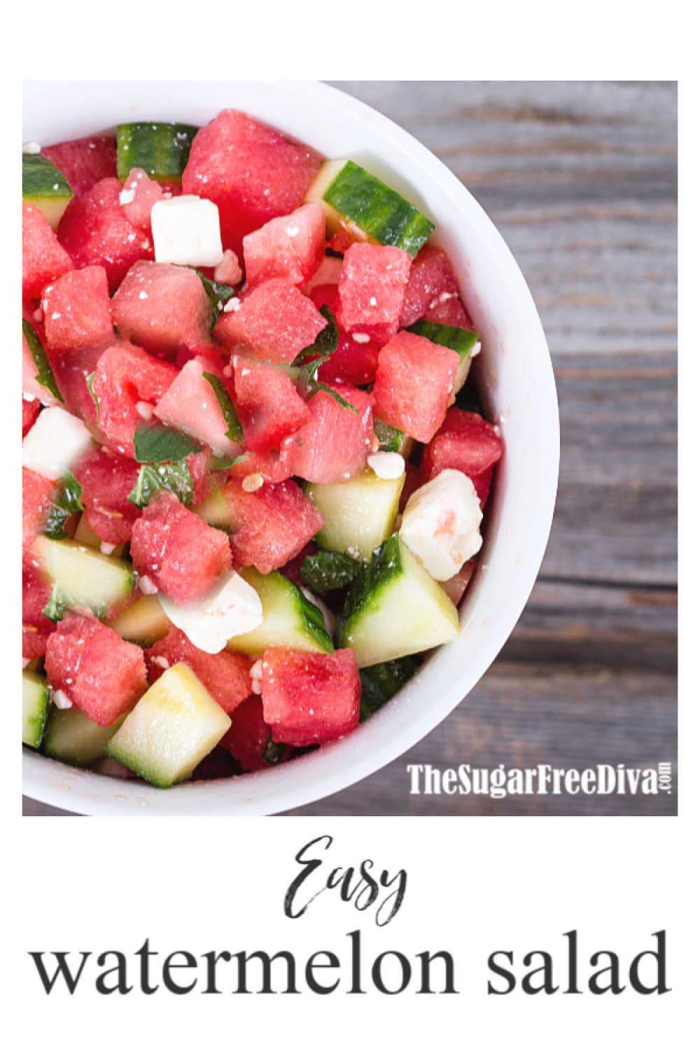 Easy Healthy Watermelon Salad