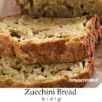 Sugar Free Homemade Zucchini Bread