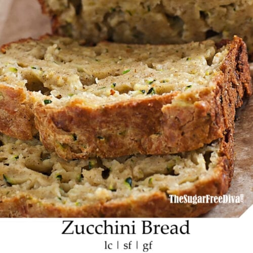 Sugar Free Homemade Zucchini Bread