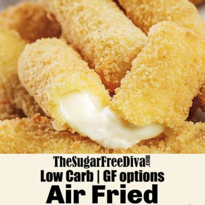 Low Carb Air Fried Cheese Sticks