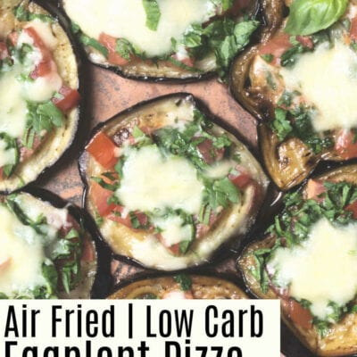 Air Fried Low Carb Eggplant Pizza