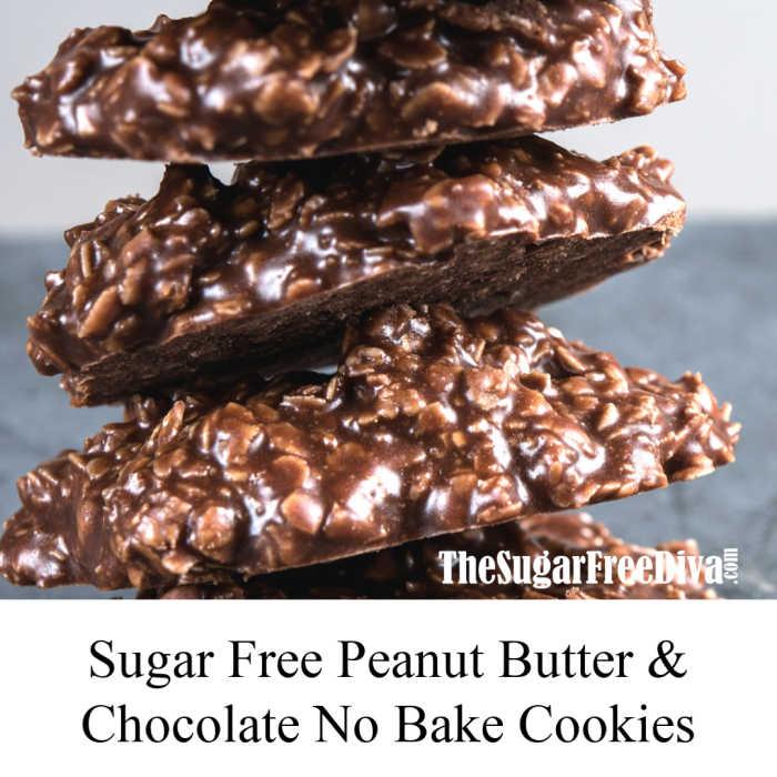 No Bake Sugar Free Chocolate Cookies The Sugar Free Diva