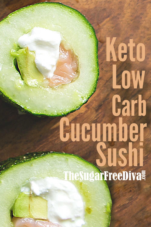 Keto Low Carb Cucumber Sushi