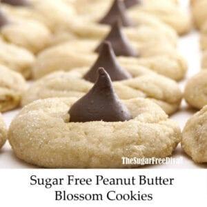 Sugar Free Peanut Butter Blossom Cookies