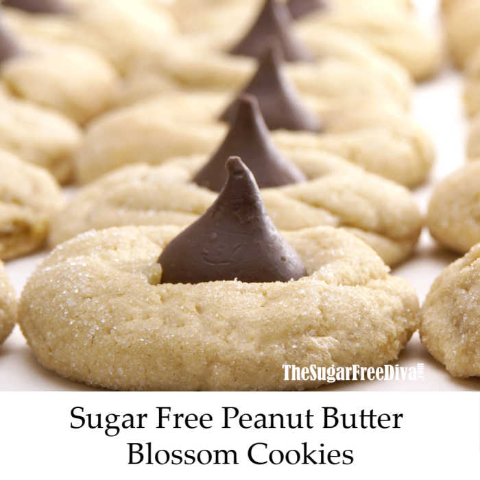 Sugar Free Peanut Butter Blossom Cookies