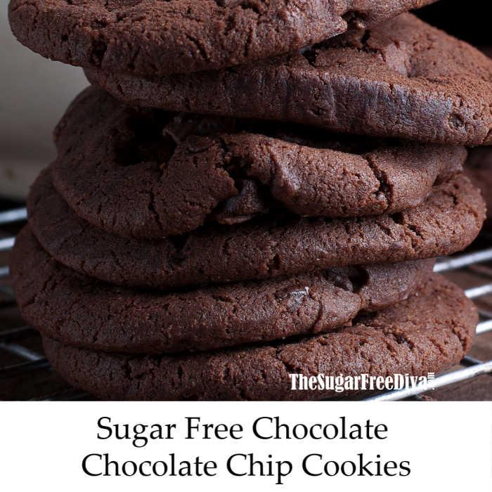Sugar Free Chocolate Chocolate Chip Cookies