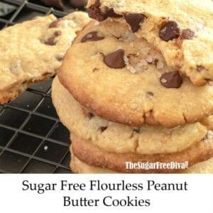 Sugar Free Flour Free Chocolate Chip Cookies