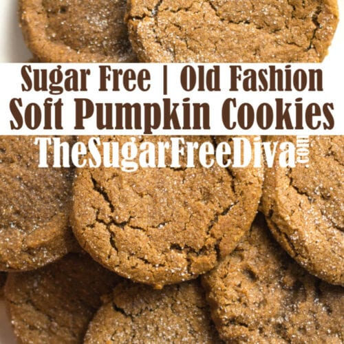 Sugar Free Soft Pumpkin Cookies