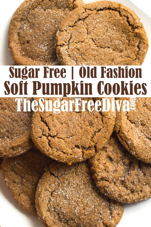 Sugar Free Soft Pumpkin Cookies